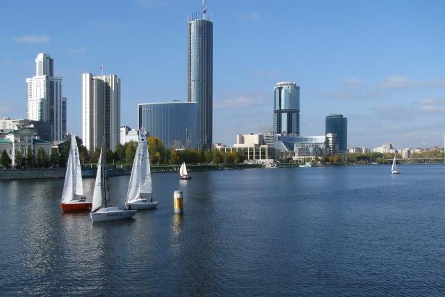 Городской пруд в Екатеринбурге
