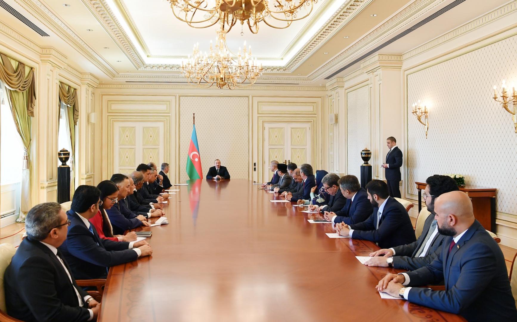 Встреча Алиева с послами