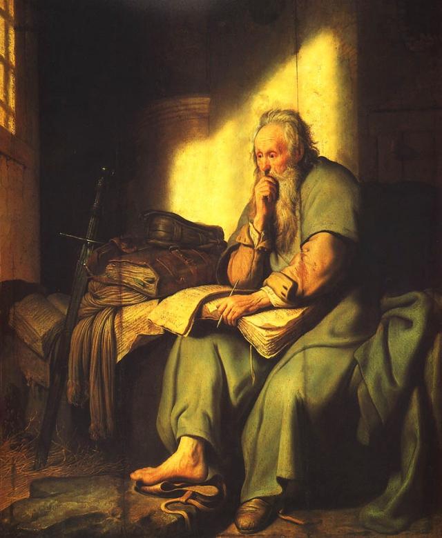 Рембрандт. Апостол Павел в темнице. 1627