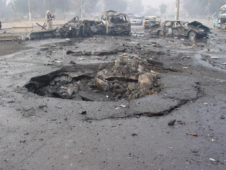 После взрыва автомобиля
