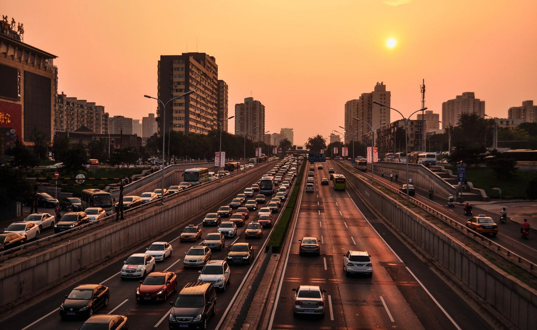 Автомобильное движение в Пекине