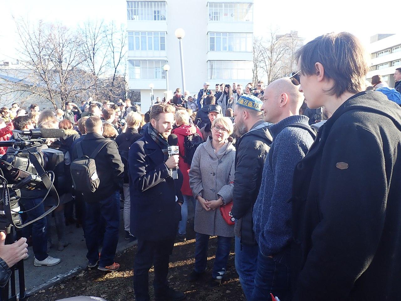 Акция противников строительства храма Святой Екатерины в Екатеринбурге