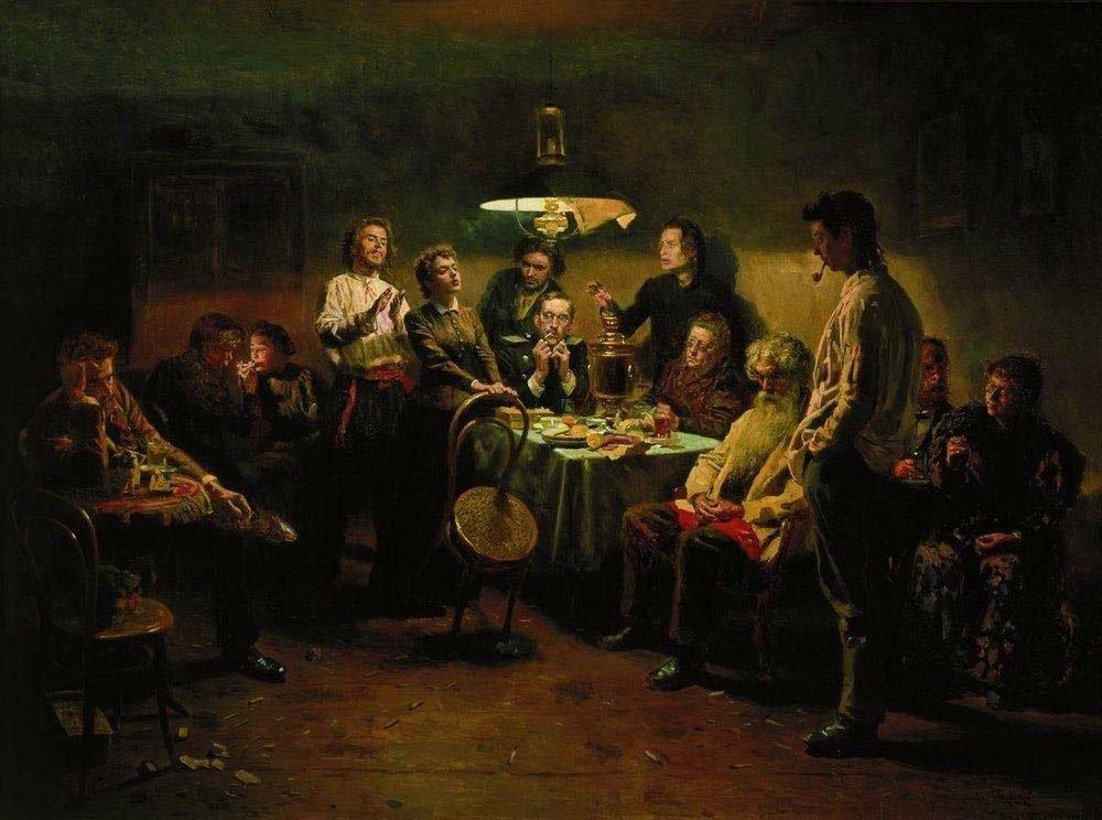 Владимир Маковский. Вечеринка. 1895