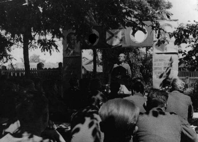 Учебные классы для новобранцев РОА. 1944