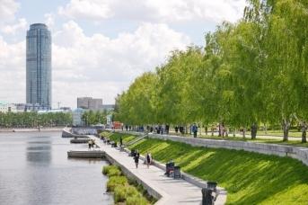 Сквер в котором планировали начать строительство храма. Екатеринбург