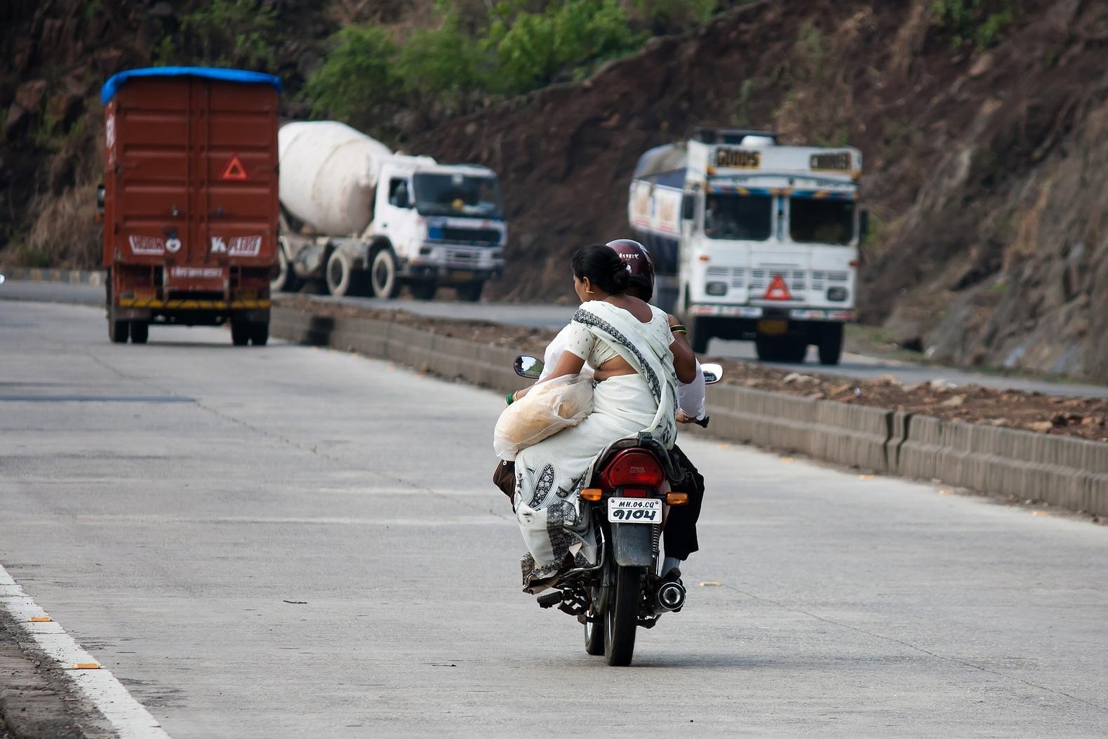 Популярный вид транспорта в Индии