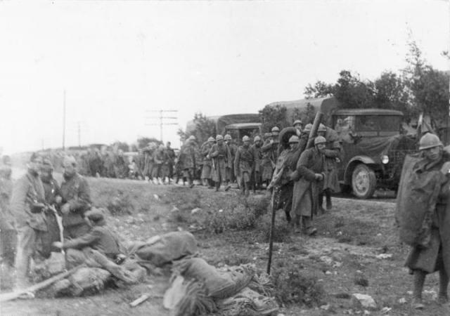 Войска итальянцев под Гвадалахарой. 29 марта 1937 года