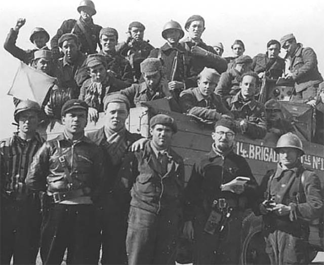 Бойцы 14-й интернациональной бригады Народной армии
