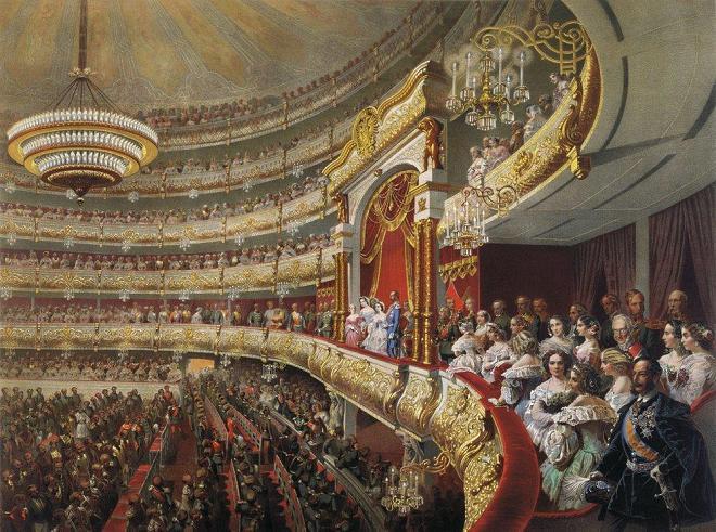 Михаил Зичи. Спектакль в Большом театре по случаю коронования императора Александра II