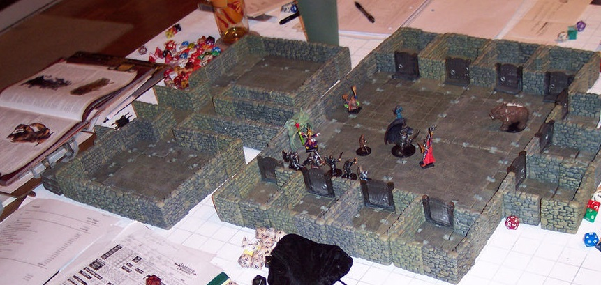 Игровая сессия игры Dungeons and Dragons