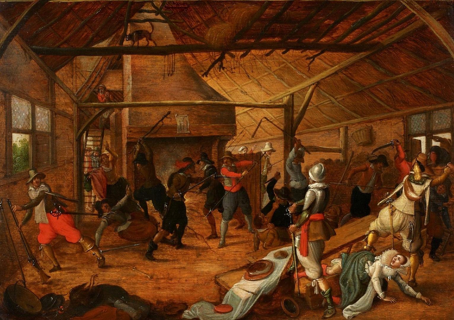 Себастьян Вранкс. Нападение на ферму во время Тридцатилетней войны. 1630