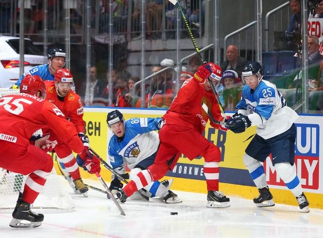 Матч «Россия — Финляндия» на Чемпионате мира по хоккею 2019