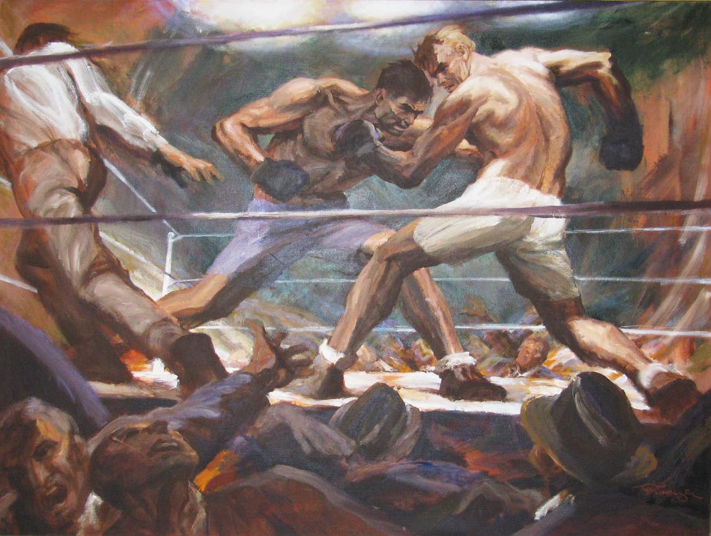 Густав Ребергер. Боксёрский поединок. 1927