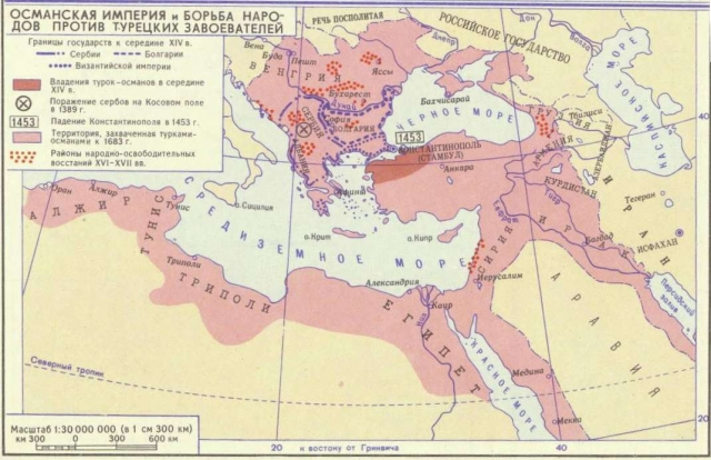 Османская империя на карте