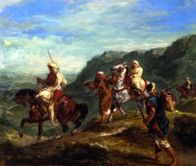 Эжен Делакруа. Арабы путешествуют. 1855