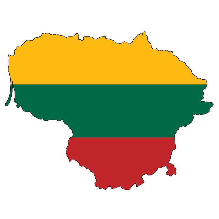 Карта-флаг Литвы