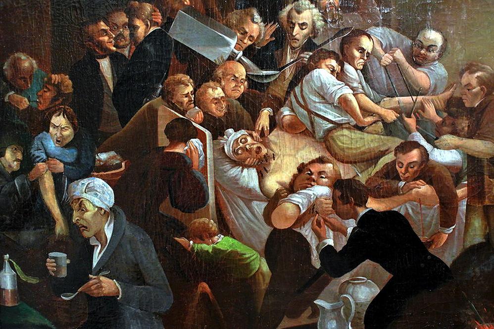 Картина неизвестного художника. Аллегория медицины (фрагмент). XIX