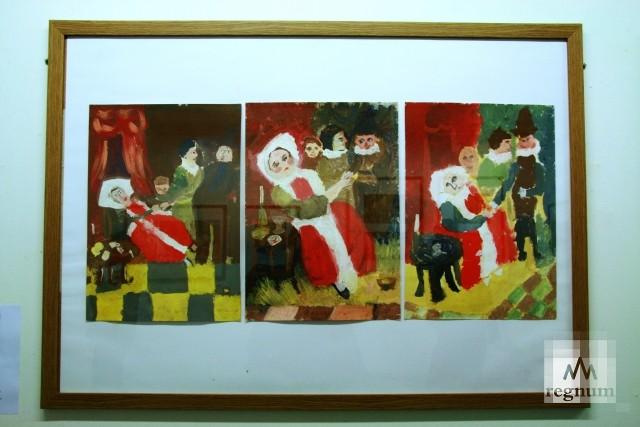 Работы с выставки «Маленькая история искусства. Золотой век» — «Больная и врач»