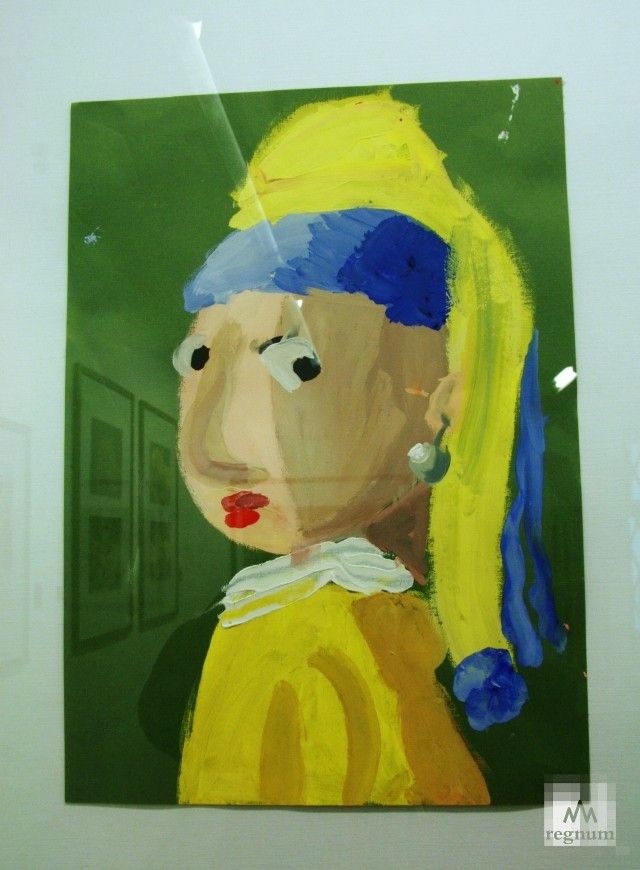 Работа с выставки «Маленькая история искусства. Золотой век» — «Девушка с жемчужной сережкой»