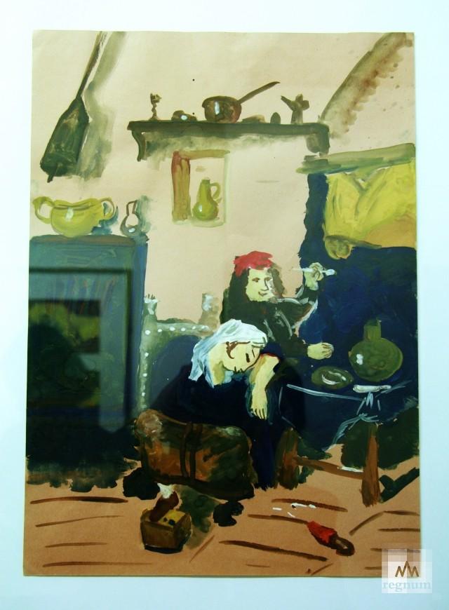 Работа с выставки «Маленькая история искусства. Золотой век» — «Гуляки»