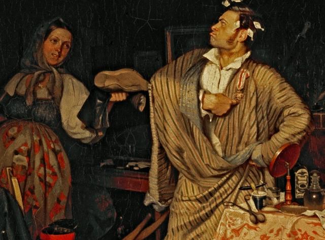 Павел Андреевич Федотов. Свежий кавалер.(фрагмент) 1846