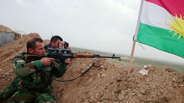 Позиции курдских солдат