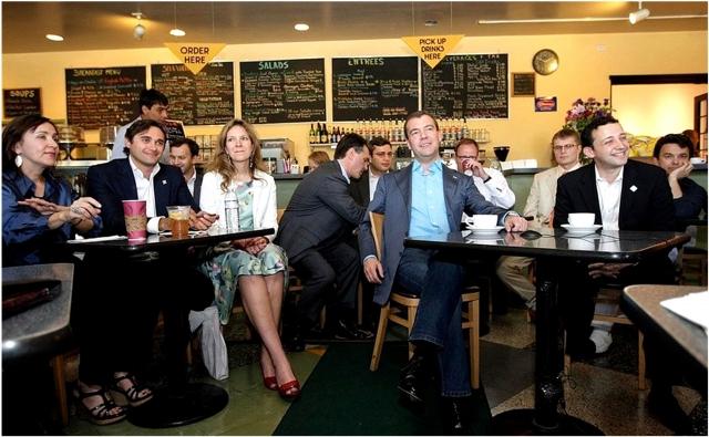 Встреча президента РФ Дмитрия Медведева с программистами из России, работающими в Кремниевой долине (2010 г.)