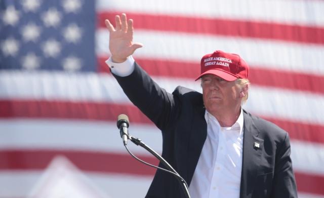 Дональд Трамп во время предвыборной кампании