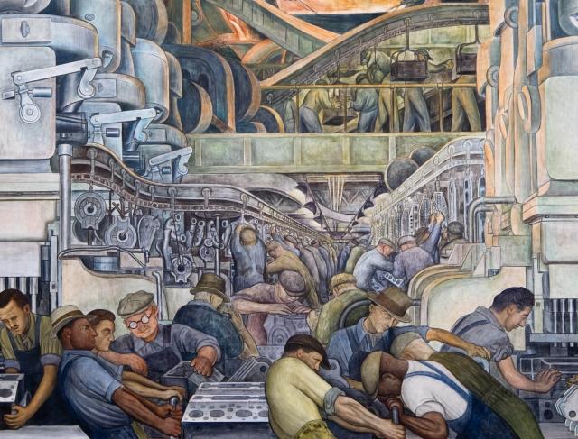 Диего Ривера. Детройт. Южная стена, фрагмент. 1932