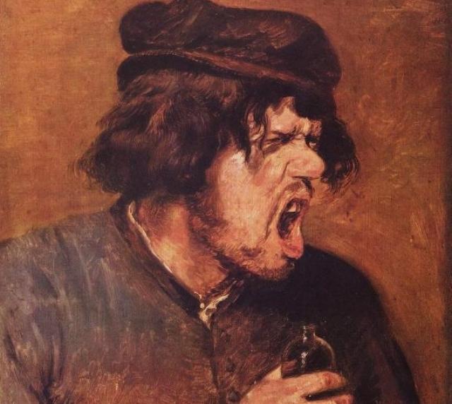 Адриан Браувер. Пьяница. 1640