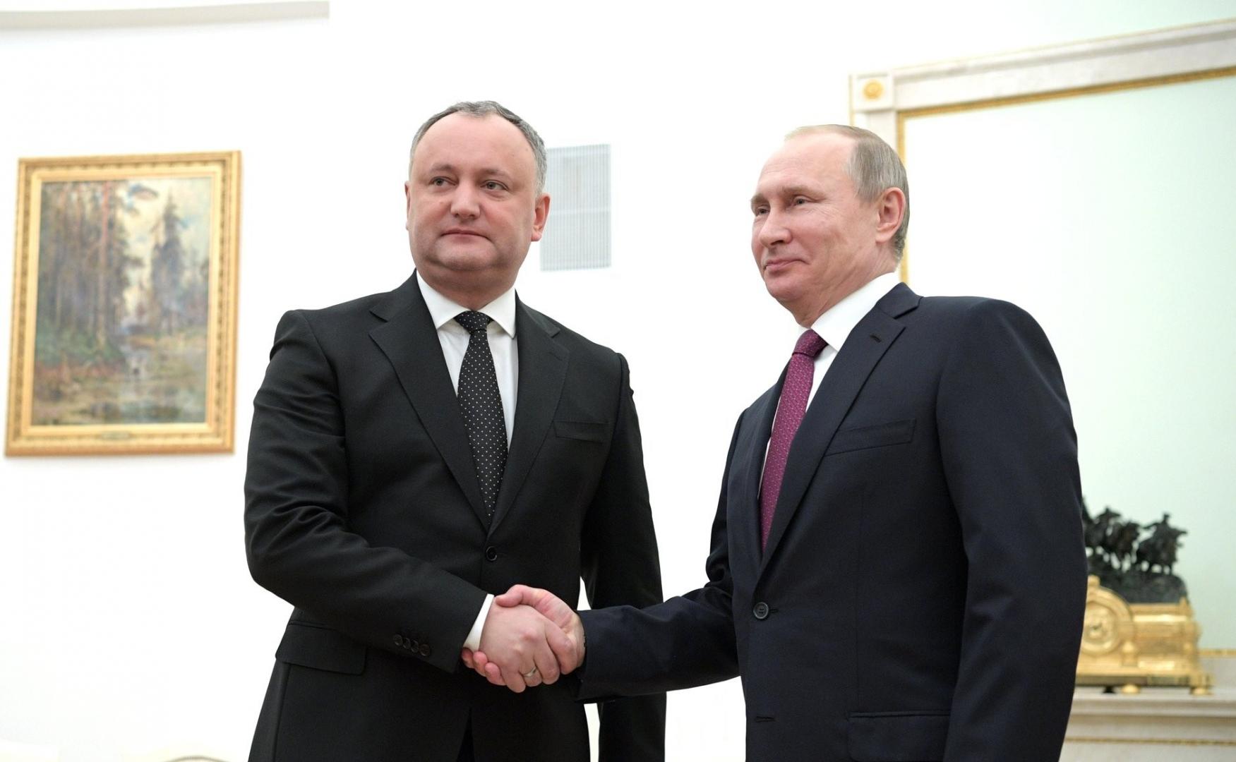 Игорь Додон и Владимир Путин
