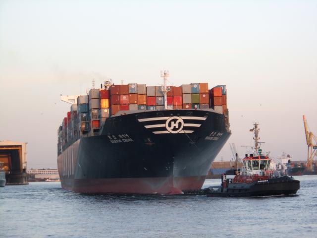 Китайский контейнеровоз