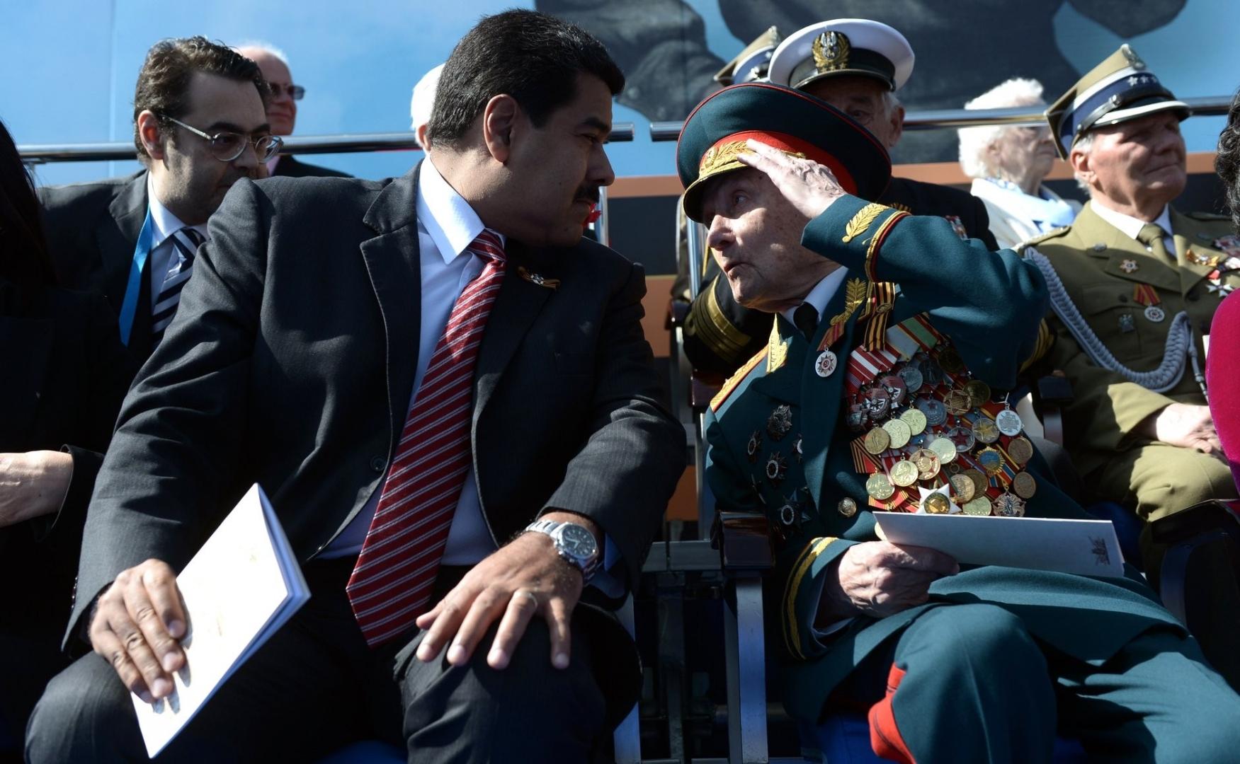 Николас Мадуро во время военного Парада в ознаменование 70-летия Победы в Великой Отечественной войне 1941–1945 годов