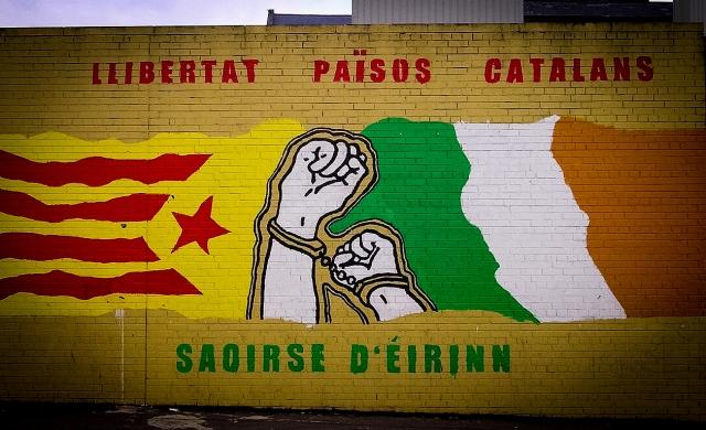 Граффити за свободу Каталонии. Испания