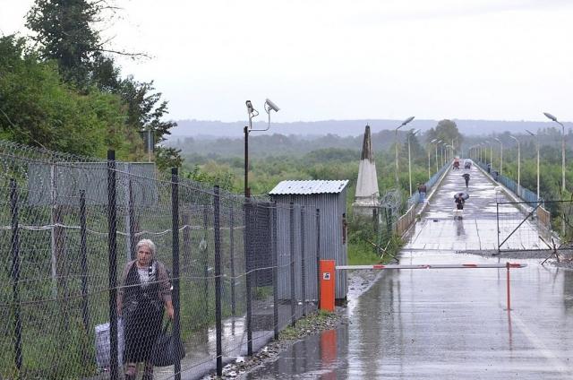 Контрольно-пропускной пункт на границе Абхазии и Грузии