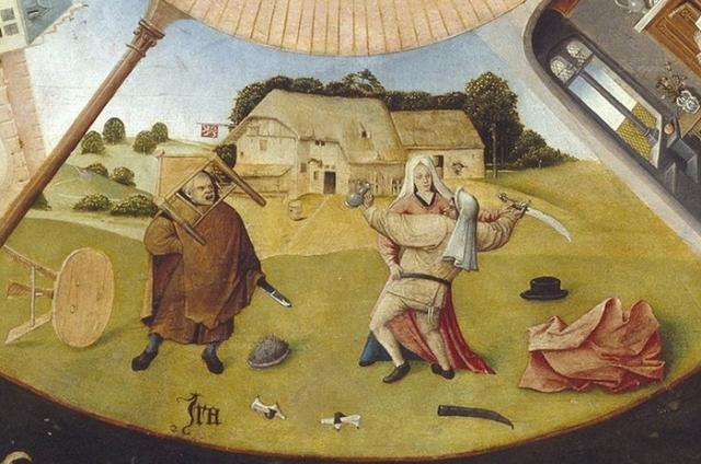 Иероним Босх. Семь смертных грехов. Гнев. 1480