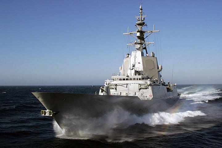 Фрегат типа «Альваро де Базан» ВМС Испании(НАТО) «Альмиранте Хуан де Бурбон» с установленным комплексом «Иджис»