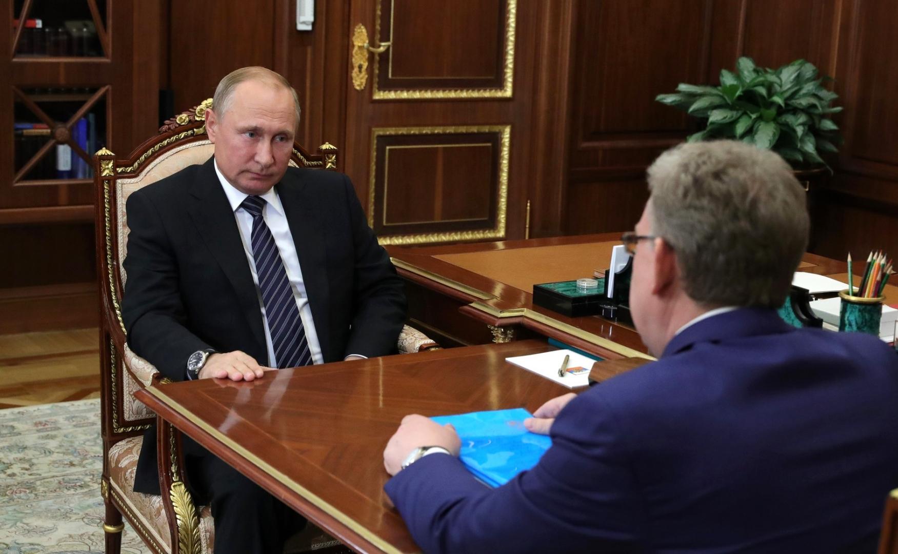 Встреча Владимира Путина с Алексеем Кудриным
