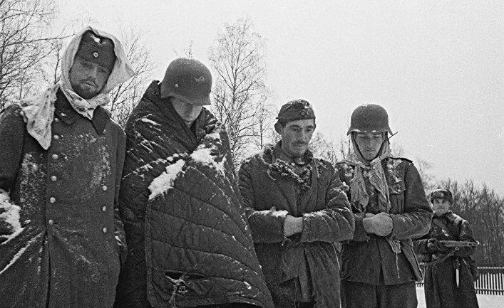 Пленные немцы под Москвой. Декабрь 1941 года