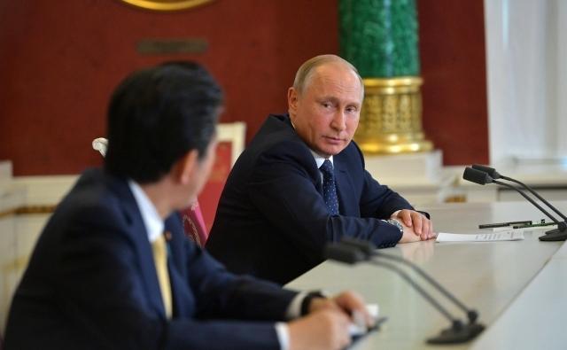 Встреча Владимира Путина и Синдзо Абэ