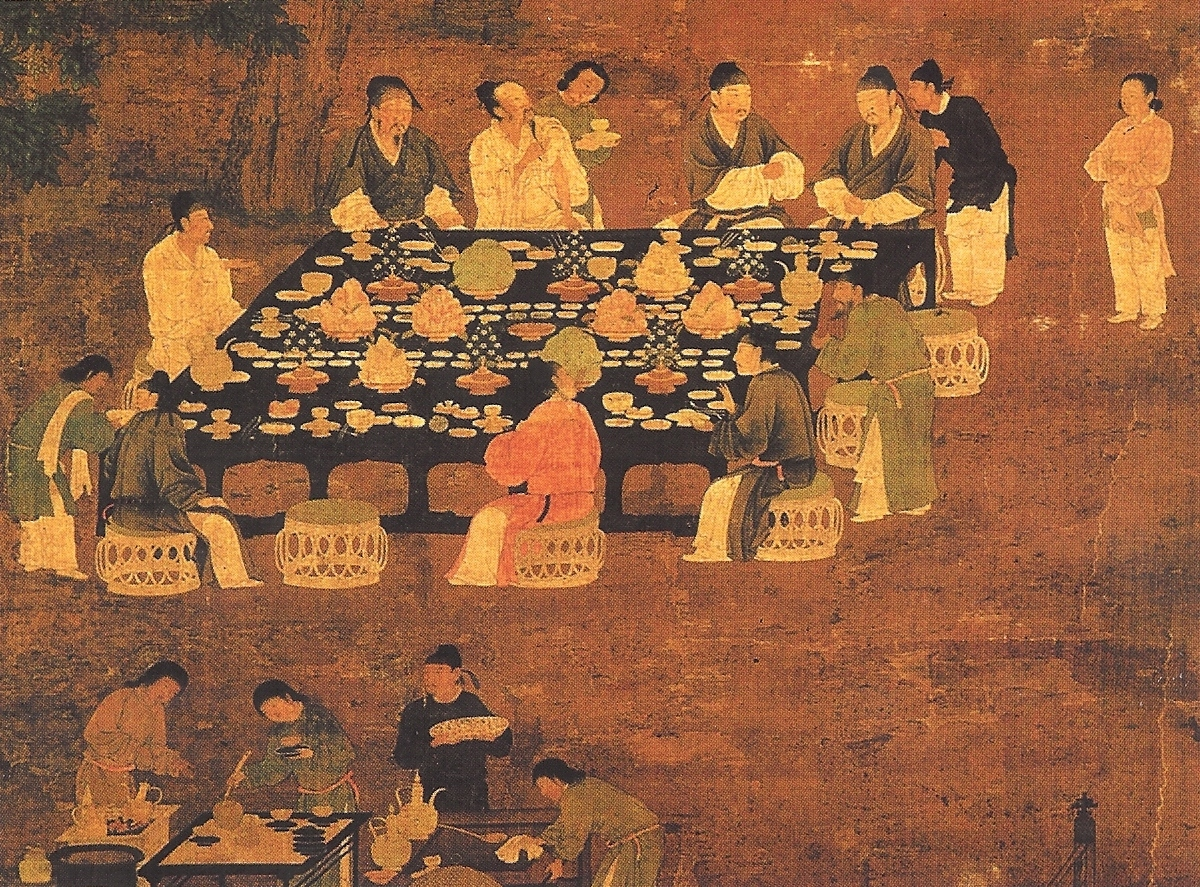 Чжао Цзи. Собрание ученых мужей (фрагмент)