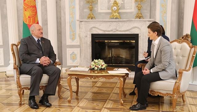 Встреча Александра Лукашенко с Премьер-министром Сербии Аной Брнабич, которая участвовала во встрече Основной группы Мюнхенской конференции по безопасности