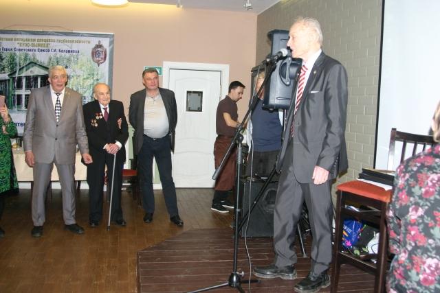 Михаил Ножкин во время выступления на 50-летии КУОС 19.03.2019г