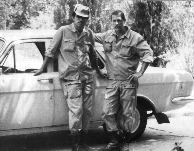 Июль 1979 – двое из группы сопровождения посла – слева бакинец Алик Оруджев, справа воронежец Борис Пономарёв