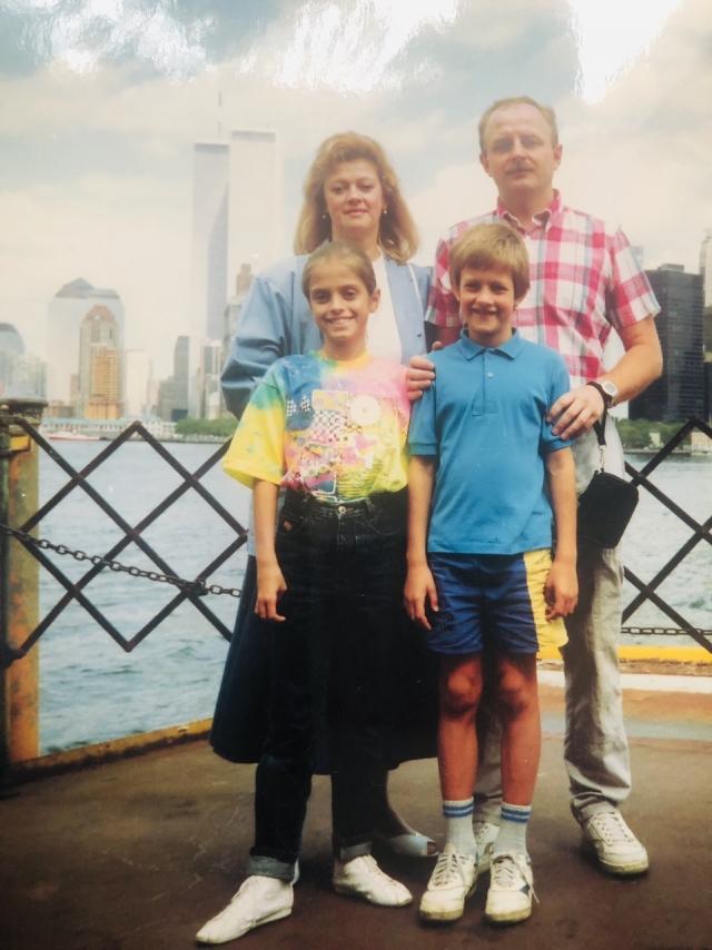Александр Потеев с женой Мариной, дочерью Маргаритой и сыном Владимиром в период своей первой командировки в США