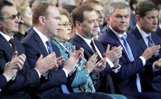 Члены правительства на послании президента Федеральному Собранию