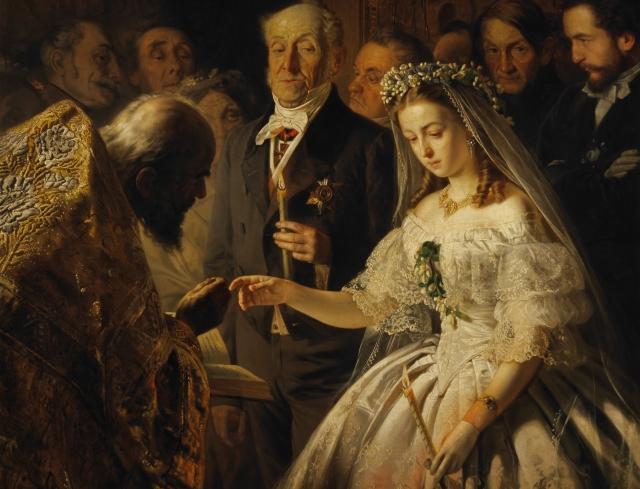 Васили Пукирев. Неравный брак. 1862