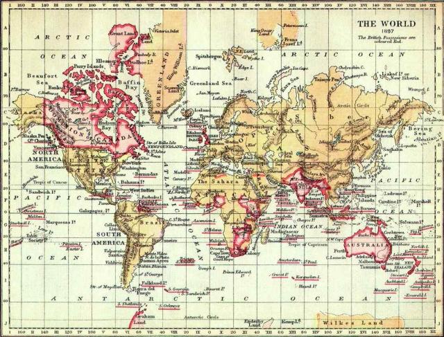 Карта Британской империи. 1897