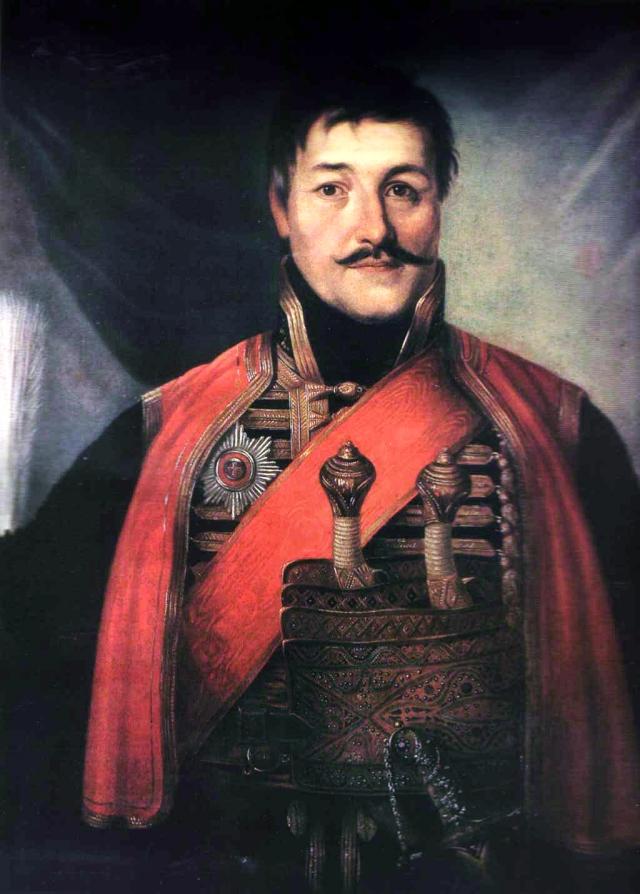 Владимир Боровиковский. Портрет Георгия Петровича Карагеоргия. 1816