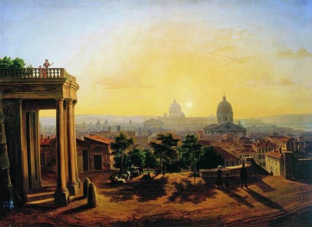 Максим Воробьев. Вид Рима. Начало 1850-х